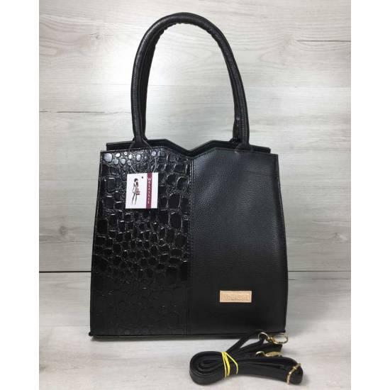 Классическая женская сумка черного цвета