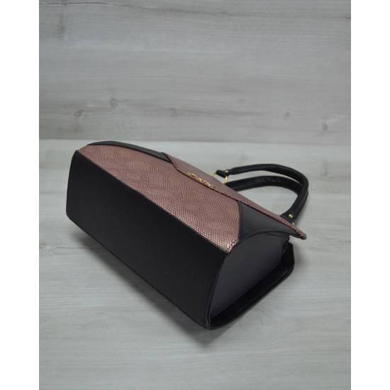 Женская сумка черно-бордового цвета