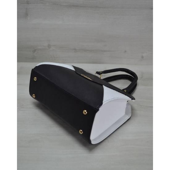 Женская сумка черно-белого цвета