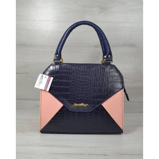 Женская сумка пудрово-синего цвета