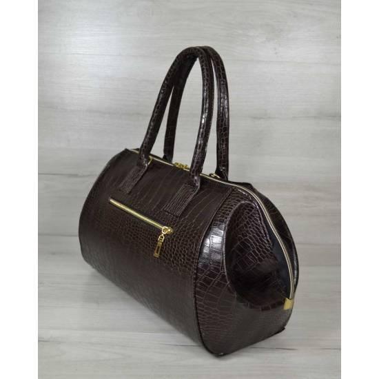 Классическая женская сумка коричневого цвета