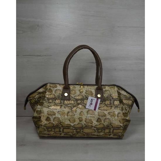 Классическая женская сумка золотистого цвета