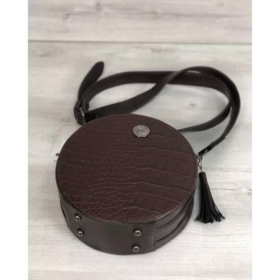 Стильная женская сумка коричневого цвета