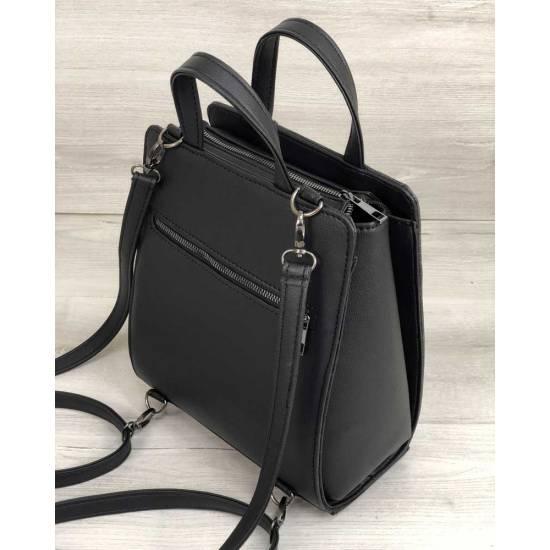 Каркасный рюкзак-сумка черного цвета