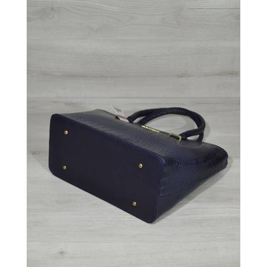 Темно-синяя стильная сумочка