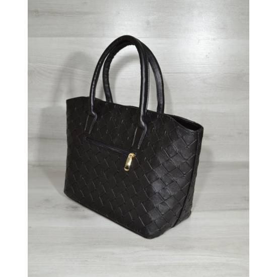 Стильная женская сумочка черного цвета