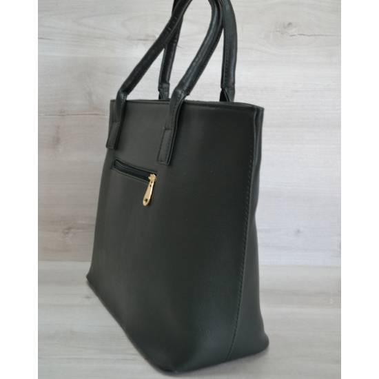 Модная сумочка зеленого цвета с блестками