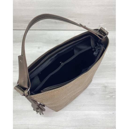 Кофейная сумка  из экокожи