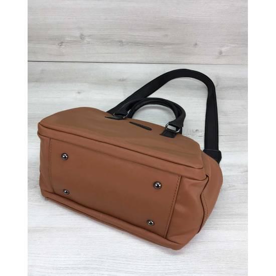 Стильная сумочка рыжего цвета