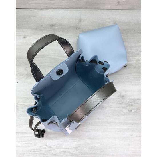 Голубая сумочка с косметичкой