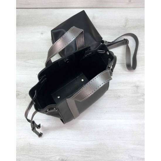 Черная сумочка с косметичкой
