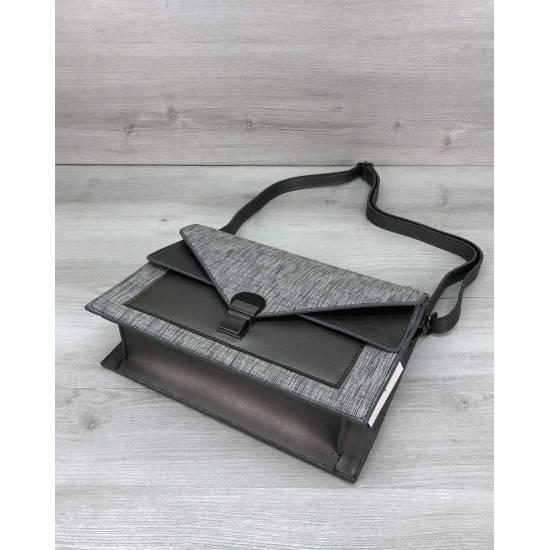Модная сумочка серого цвета