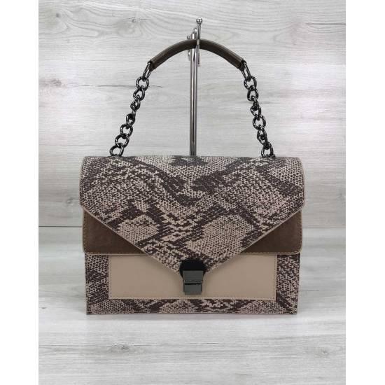 Модная сумочка бежевого цвета