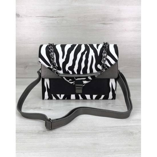 Женская сумочка зебровой расцветки