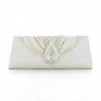 Вечерний клатч KJY632208 белого цвета (белый/крем)
