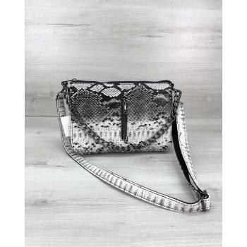 Черно-белая сумка-клатч