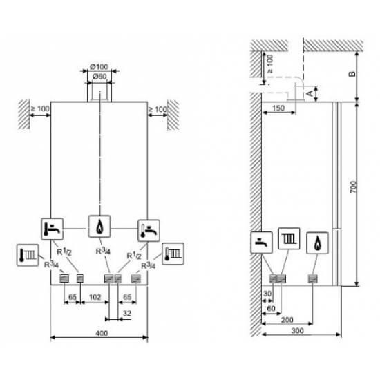 Котел газовый Bosch Gaz 6000 W WBN 6000-35C RN (7736900672)
