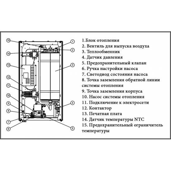 Котел электрический Protherm Ray (Скат) 14KE/14 c шиной eBus (7 + 7 кВт) (380 В)