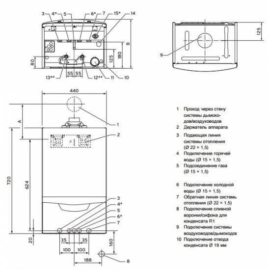 Котел газовый конденсационный Vaillant ecoTEC plus VU INT IV 166/5-5 H (0010021962)