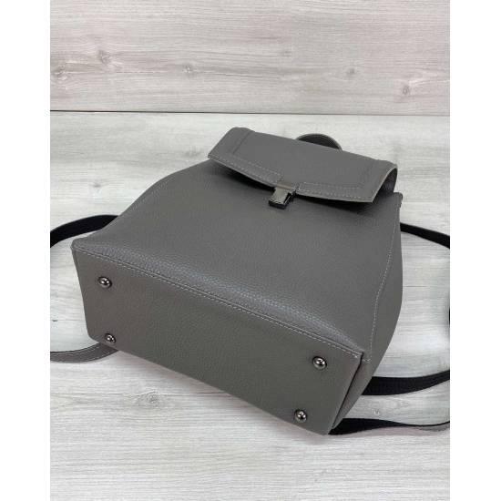 Сумка-рюкзак серого цвета