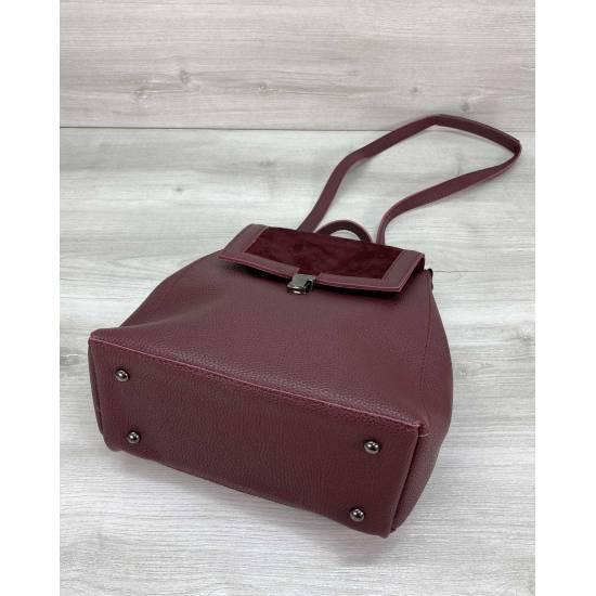 Стильный рюкзак черного цвета с замшем