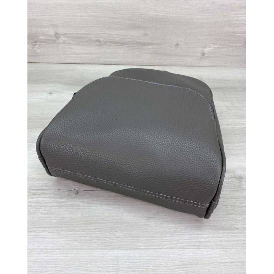 Стильный серый рюкзак из кожзама