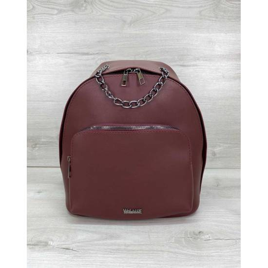 Стильный рюкзак бордового цвета