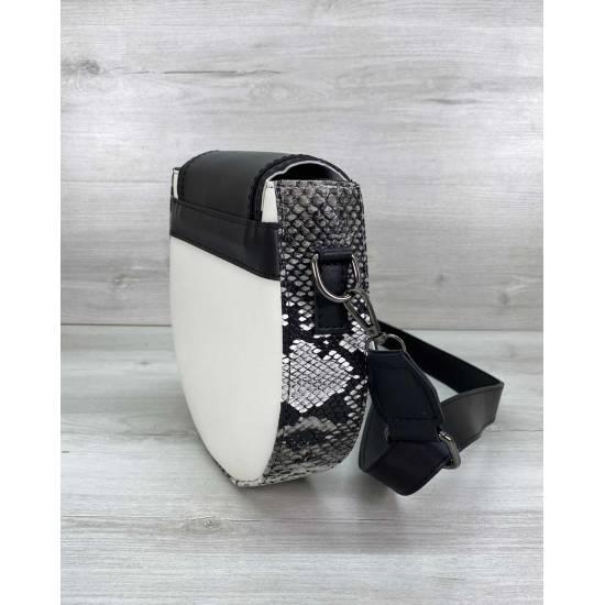 Сумка бело-черного цвета