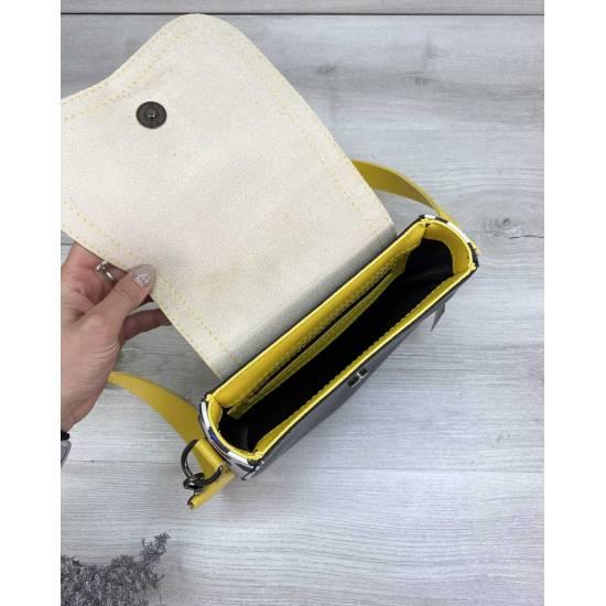 Стильная сумка желто-черного цвета