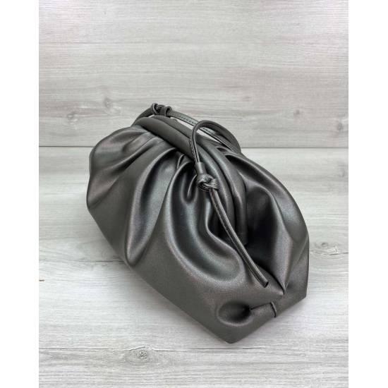 Модная женская сумка цвета металлик