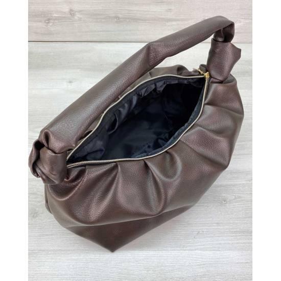 Стильная сумочка шоколадного цвета
