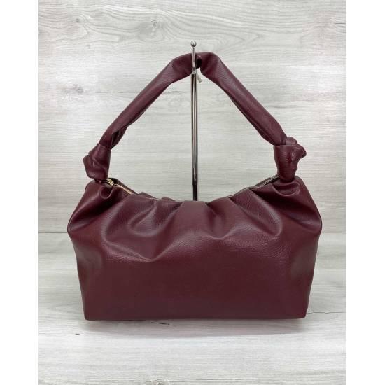 Женская сумочка бордового цвета