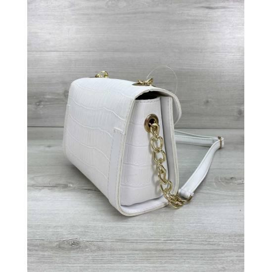 Женская сумочка белого цвета