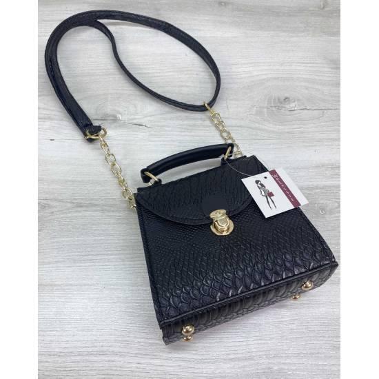 Модная женская сумочка черного цвета