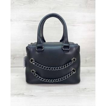 Черная сумочка из экокожи
