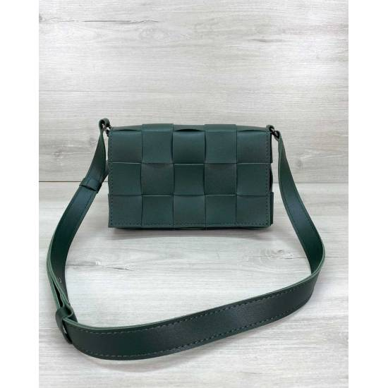 Плетеная сумочка зеленого цвета