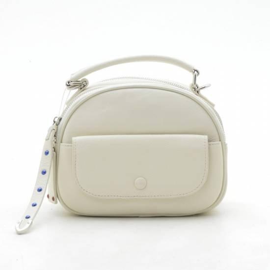 Женский клатч 2061 leather белого цвета