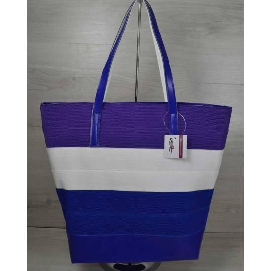 Фиолетово-белая сумка
