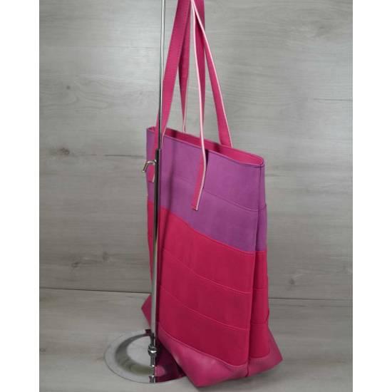 Летняя сумка розово-красного цвета