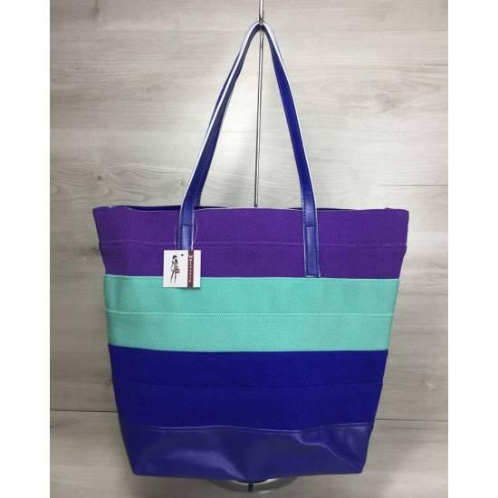 Фиолетово-мятная сумка