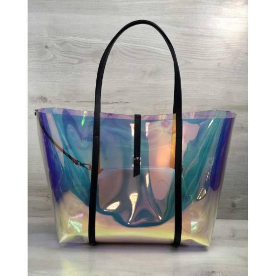 Пляжная сумка перламутрового цвета 2 в 1