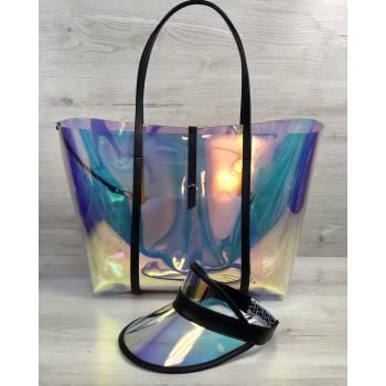 Пляжная сумка перламутрового цвета 3 в 1