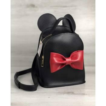 Черный рюкзак с ушками