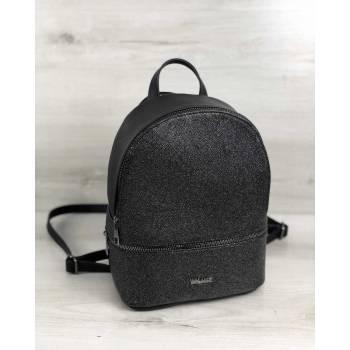 Черный рюкзак с блеском