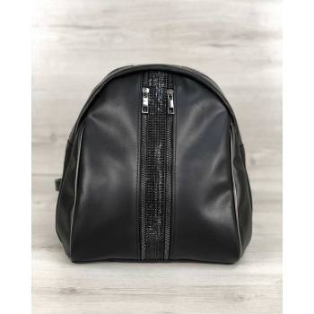 Черный рюкзак из экокожи