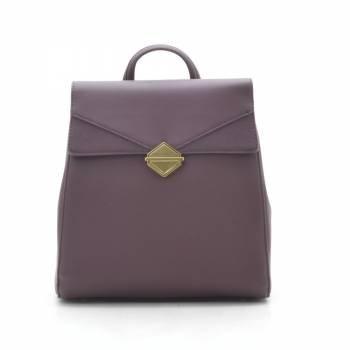 Фиолетовый рюкзак из кожзама