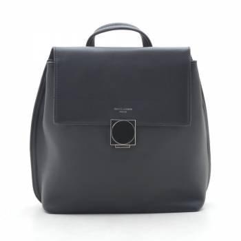 Черный  рюкзак с внешним карманом