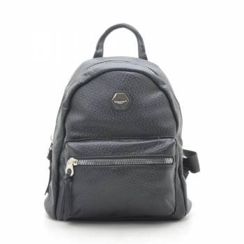 Черный рюкзак из кожзама