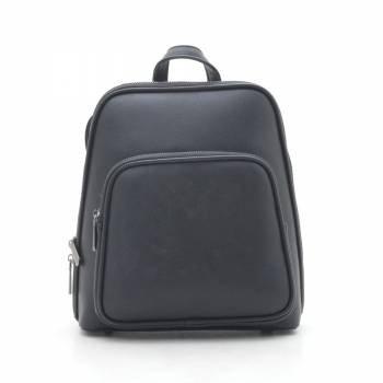 Черный рюкзак с внешними карманами спереди и сзади