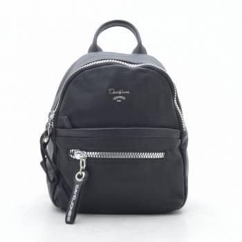 Чёрный рюкзак с внешним карманом